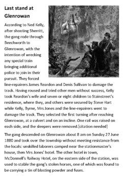 Last stand at Glenrowan  - Ned Kelly Handout