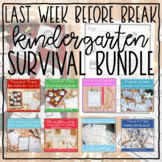 Last week before winter break French Kindergarten SURVIVAL BUNDLE