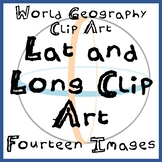 Lat and Long / Map Skills Clip Art - Fifteen Images