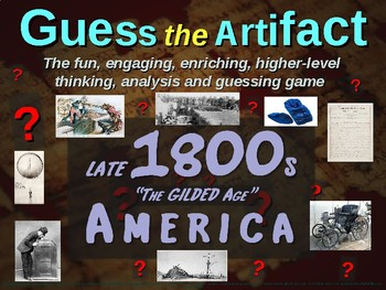 "Late 1800s (Gilded Age) America ""Guess the artifact"" - engaging (pics & clues)"