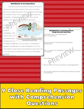 Late 20th Century Close Reading Passages {Digital & PDF Included}