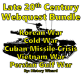 Late 20th Century Webquest Bundle (Wars and Major Events)