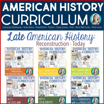 Late American History Bundle (Reconstruction-Today)