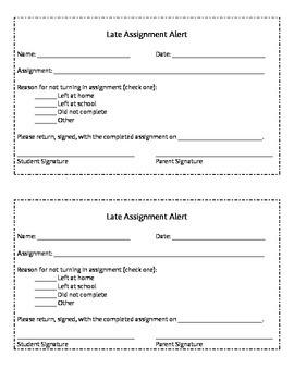 Late Assignment Alert