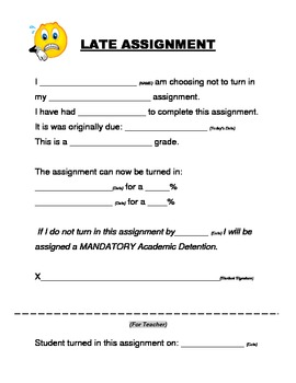Late Assignment Documentation Form