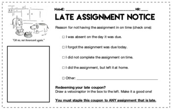 Late Assignment Notice