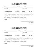 Late Homework Form