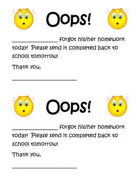 Late Homework Reminder