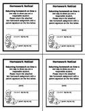 Late Homework Slip- Teacher Printable