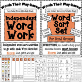 Late Letter Name Alphabetic Bundle!  Word Sorts + Independent Word Work