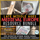 Late Middle Ages - Medieval Europe Activities Resource Bundle
