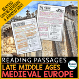 Late Middle Ages Medieval Europe Reading Passages - Questions - Annotations