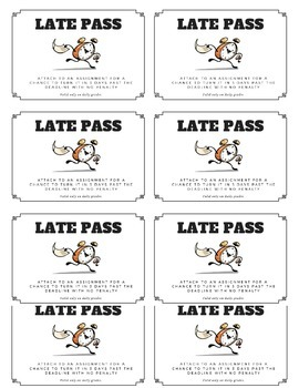Late Passes