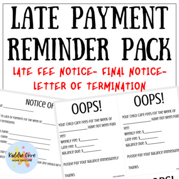 Late Payment Notice