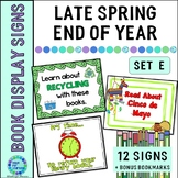 Library Book Display Signs Late Spring | End of Year