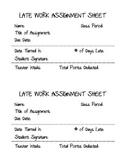 Late Work Assignment Sheet