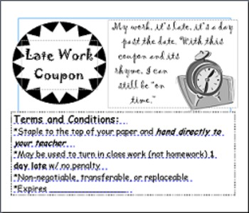 Late work teaching resources teachers pay teachers late work coupon late work coupon fandeluxe Gallery