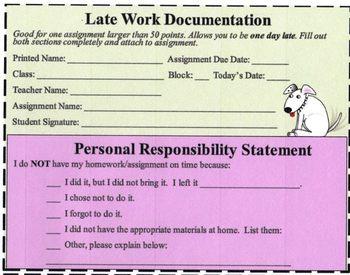 Late Work Documentation
