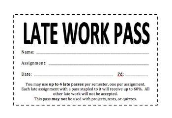Late Work Pass