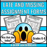 Late and Missing Assignment Forms