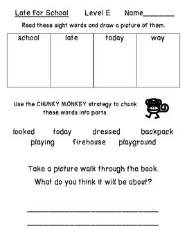 Late for School - Guided Reading for Growing Readers