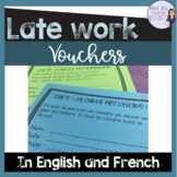 Late homework voucher -in French and English