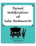 Late/Missing Homework Note
