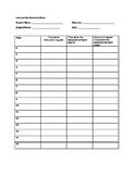 Latency Data Recording Chart