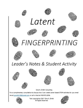 Latent Fingerprinting Leader's Notes & Student Activity
