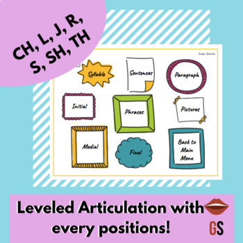 Later Articulation Sounds | No Prep No Print Digital | Distance Learning