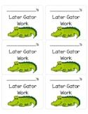 Later Gator Work Folder Label