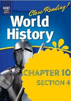 "Middle Ages Holt World History Ch. 10 Sec. 4 ""Political an"