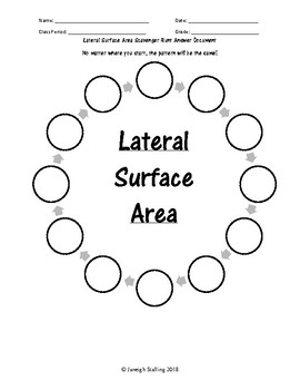 Lateral Surface Area Scavenger Hunt