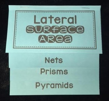Lateral Surface Area of Prisms & Pyramids (Foldable)