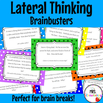 Lateral Thinking Brainbuster Cards {Brain Teasers}