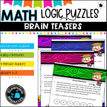 Math Logic puzzles and Brain teasers to encourage problem solving
