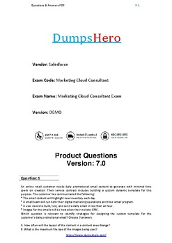 Latest 2019 Marketing-Cloud-Consultant Actual Exam Questions