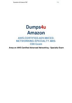 Latest ANS-C00 Dumps Pdf Questions 2019