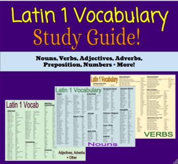Latin 1 Vocabulary Study Guide
