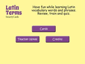 Latin Words Interactive Flashcards