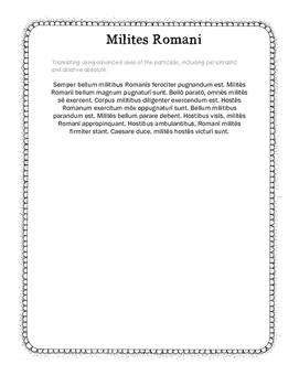 Latin Advanced Participle Use Translation - Milites Romani