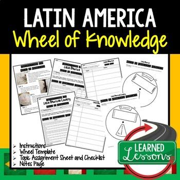 Latin America Activity, Wheel of Knowledge (Interactive Notebook)