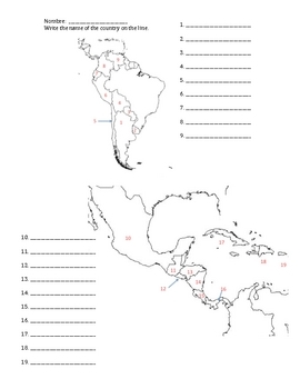 Latin America: Central and South America Country Capital Quiz by ...