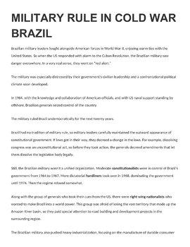 Latin America Cold War Activity