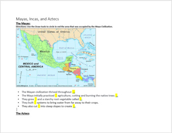 Latin America Digital Notebook - Great with Google Drive or Microsoft OneDrive!