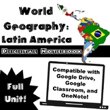 Latin America Digital Notebook - Great with Google Drive o
