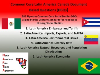 Latin America Document Based Questions - 286 DBQs and 6 Different Topics!!