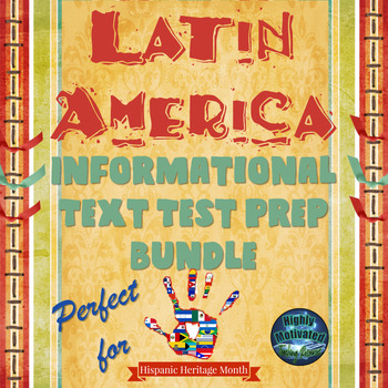 Latin America ELA Informational Text Test Prep Bundle with Student Checklist