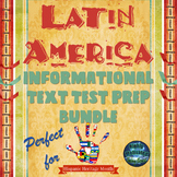 Latin America ELA Informational Text Test Prep Bundle with