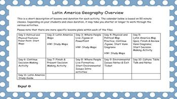 Latin America Geography
